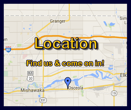 We're spread out in the South Bend, Osceola and Elkhart area.