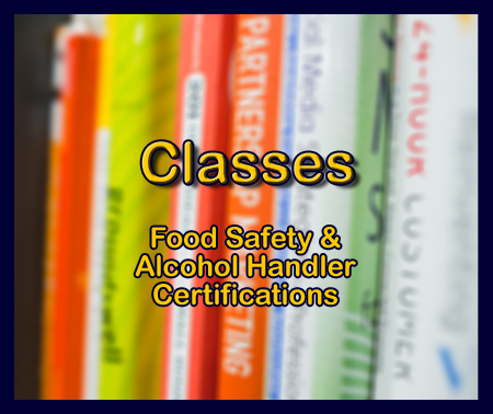Between the Buns offers classes for Certified Professional Food Handlers and Alcohol Handlers Certifications.
